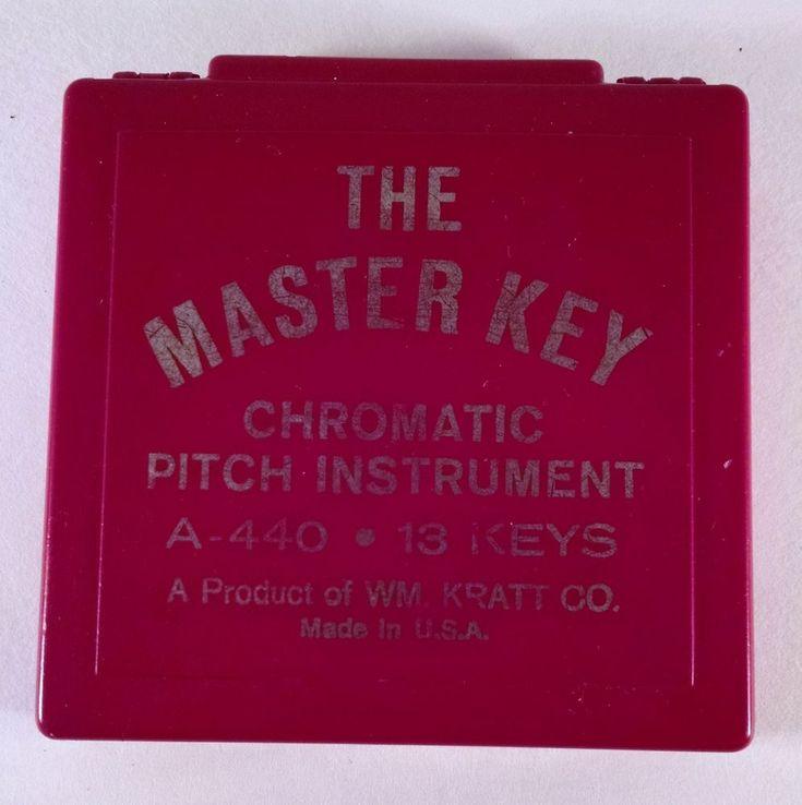 VTG The Master Key Chromatic Pitch Instrument 13 keys, by WM Kratt Co Free Ship  #WmKrattCo