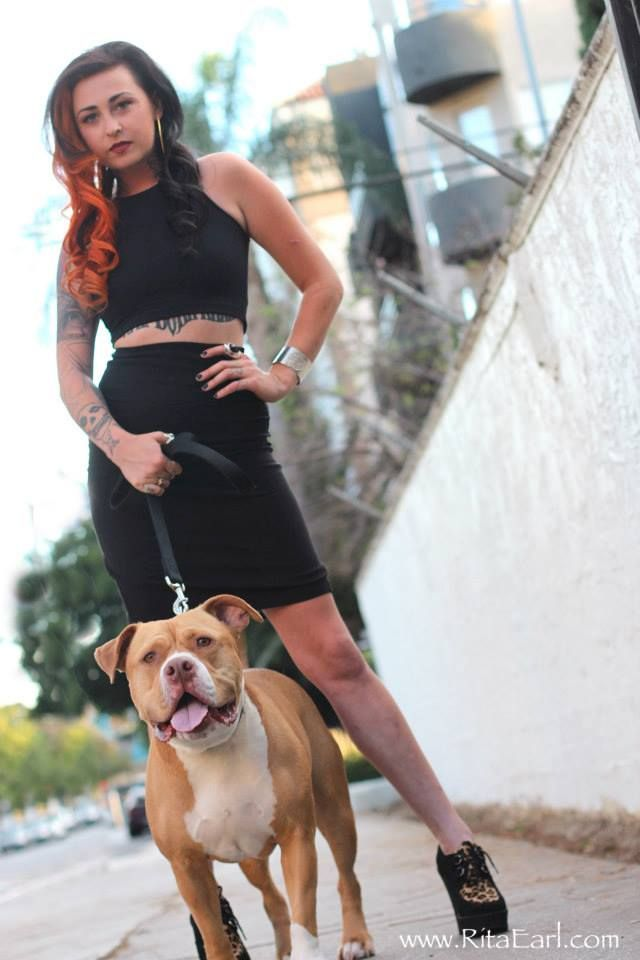 Mariah Harmony of Villalobos Rescue Center and Pit Bulls and Parolees and her pittie,Tater! <3