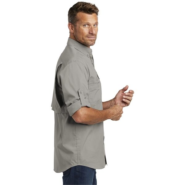 54c93c51 Carhartt Force Ridgefield Solid Long Sleeve Shirt. Don't let the heat stop  you from a long day outdoors. The Ridgefield wicks sweat, releases stains  in the ...
