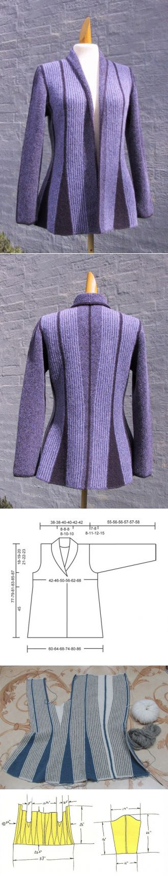 Жакет от Drops Design и Двухцветный пуловер