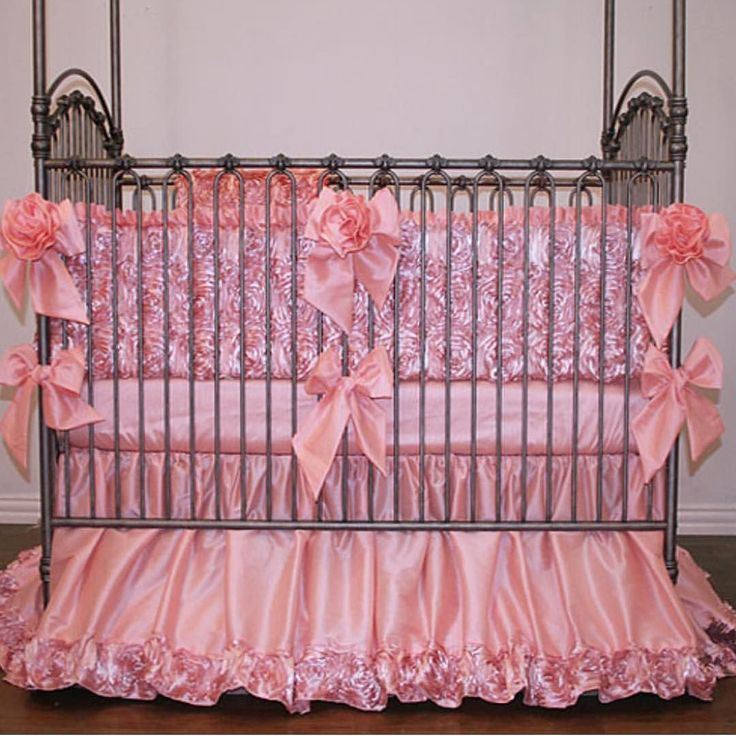 Isabella Jewel Rosette Baby Bedding Is Simply Elegant In