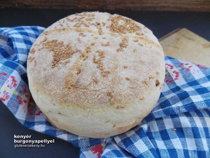Burgonyapelyhes gluténmentes kenyér lenmagos szórással Mindennapi gluténmentes kenyerünket időről időre kicsit máshogy készítjük el. Mai kenyerünk tésztáját burgonyapehellyel gazdagítottuk, tetejére lenmagot szórtunk