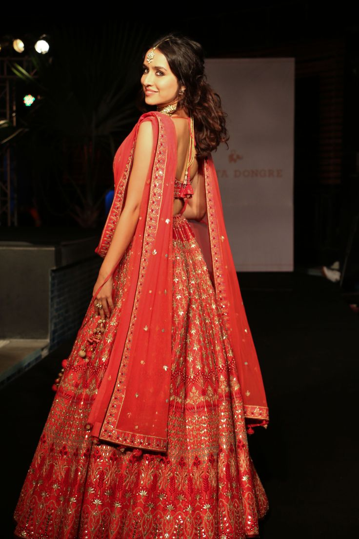 Shraddha Kapoor walked for ace designer Anita Dongre and looked elegant in the outfit.