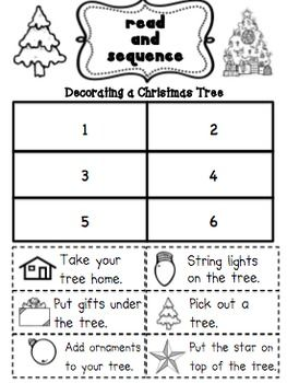 Christmas Tree Decorating- Sequencing?