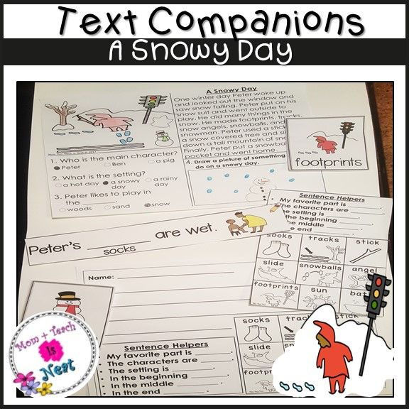 the snowy day writing activities for kindergarten