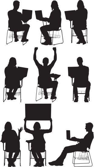 Siluetas para salon de clases, universidad /Shades for university