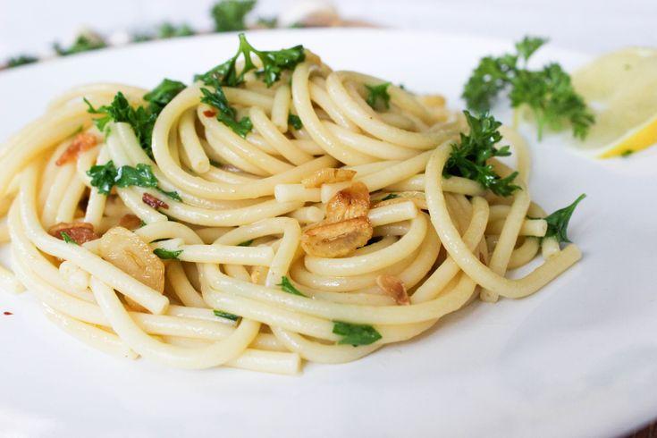 20 minute garlic pasta
