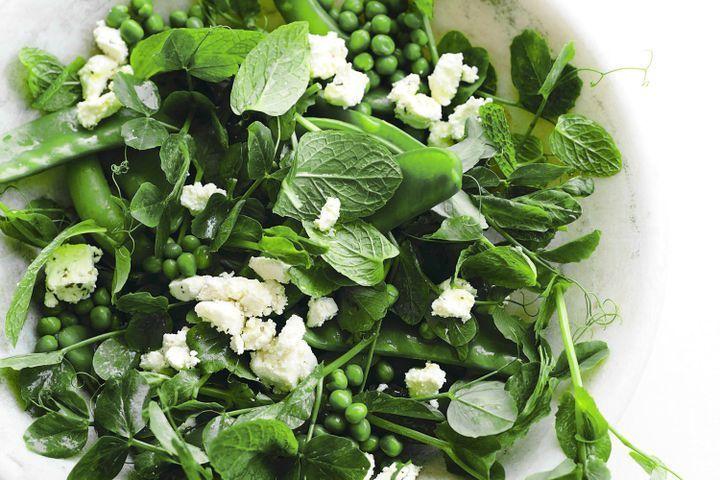 Mixed pea, mint & feta salad