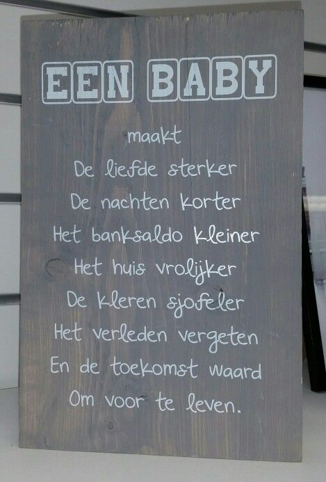 Cute babyboard! Schattig bord voor de babykamer. Leuk om zelf te maken!