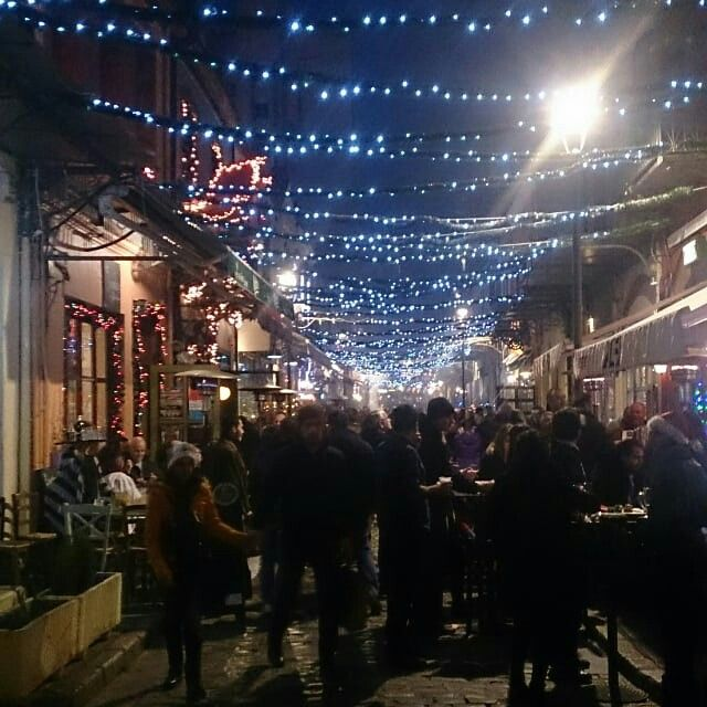 Greece, Thessaloniki, ladadika .New Years Eve.