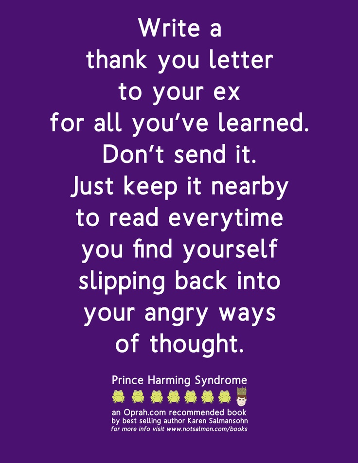 Thank you letter for your ex-