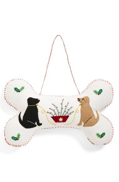New World Arts Two Dogs Bone Shape Accent Pillow available at #Nordstrom $29.00