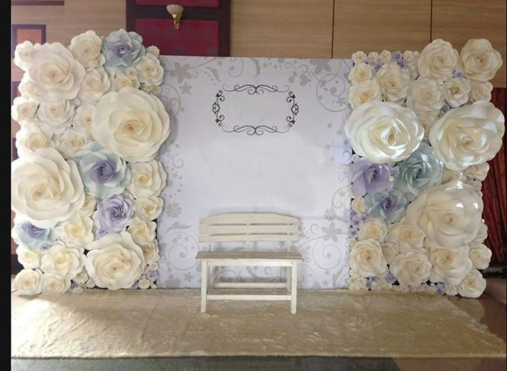 Paper Flowers Backdrop Destiny Pinterest Paper Flowers Backdrops And F