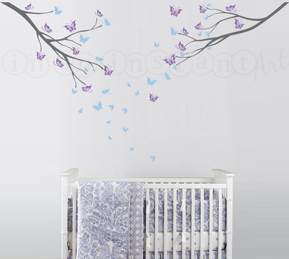 Butterfly Branches Wall Decal, Butterfly Wall Decal, Branch Decal For  Nursery, Bedrooms, Part 66