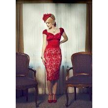 La Fille en Rouge Pencil Skirt - $149.00