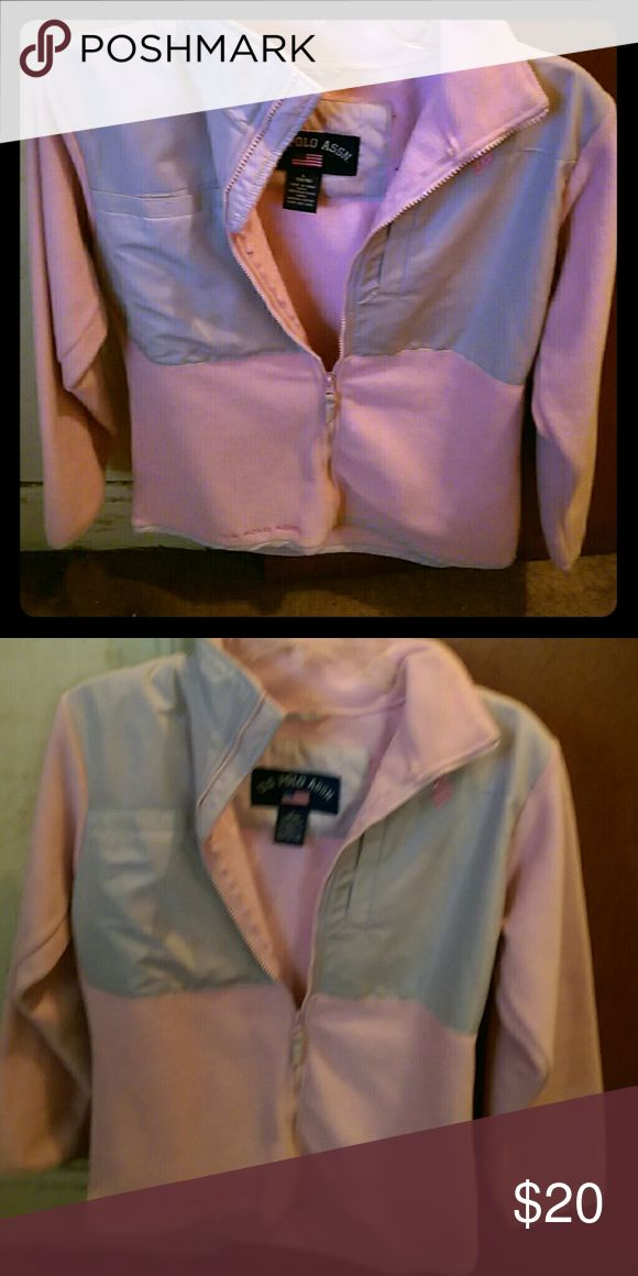 Pink US Polo Association Jacket Barely worn. Excellent condition. Super warm fleece. Machine washable U.S. Polo Assn. Jackets & Coats