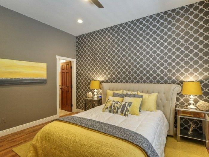 Einrichtungsideen schlafzimmer grau  Die besten 25+ Grau gelbe schlafzimmer Ideen auf Pinterest ...