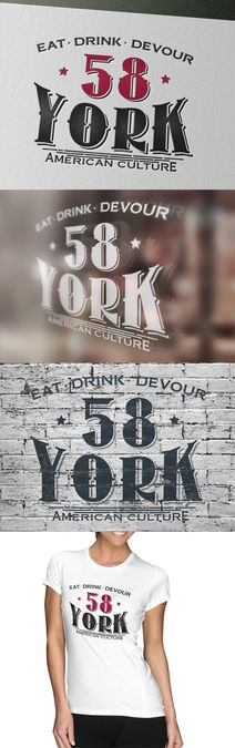 Create a catchy, strong, and fierce restaurant logo for 58 York in Hatboro, PA by Gstars