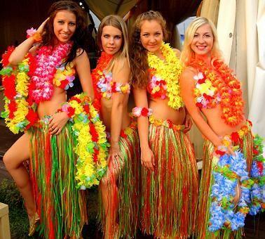 Гавайская вечеринка сделать костюм