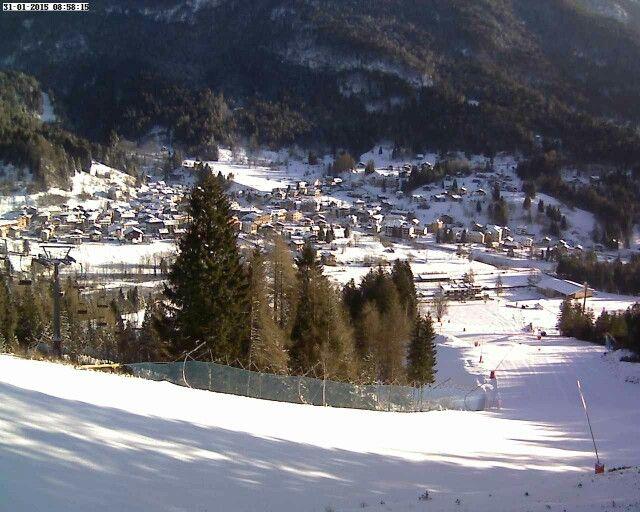 Forni di Sopra with a fresh snow