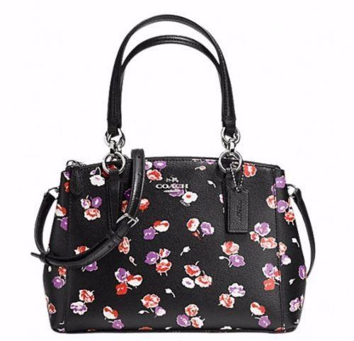 11 best coach mini christie images on pinterest coach handbags nwt coach floral print leather mini christie carryall satchel shoulder bag wstr mightylinksfo