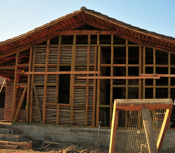 Casa construida con Quincha