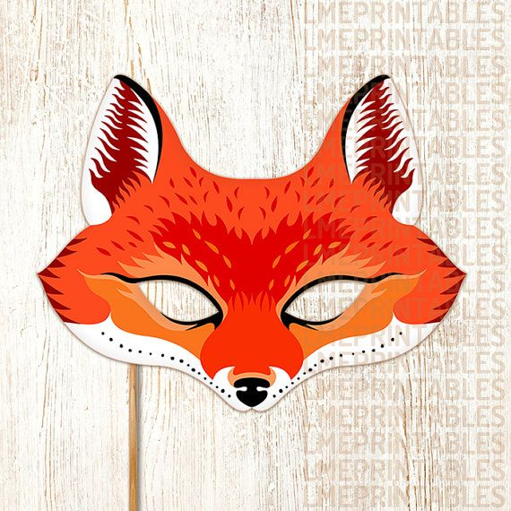 Red Fox Mask PDF File Ready to Print Cut and Enjoy! This item Include: • PDF files ready for printing and instructions for making the mask. • JPG files ready for printing and instructions for making the mask. Features: • Large eye holes for wearing comfort. • Paper Format A4: 21 x
