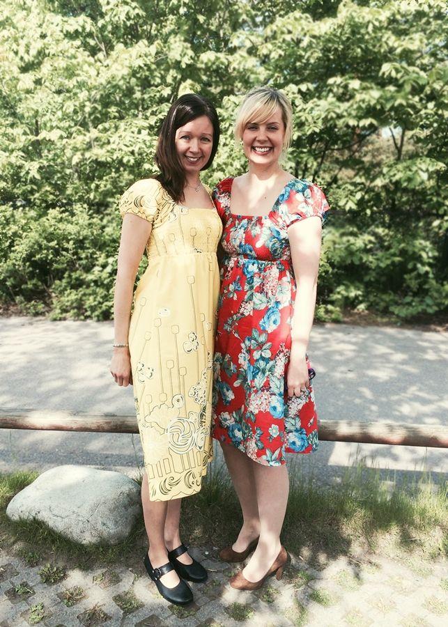 Hilma dress. Pettern in book: Mekkotehdas: naisten vaatteet
