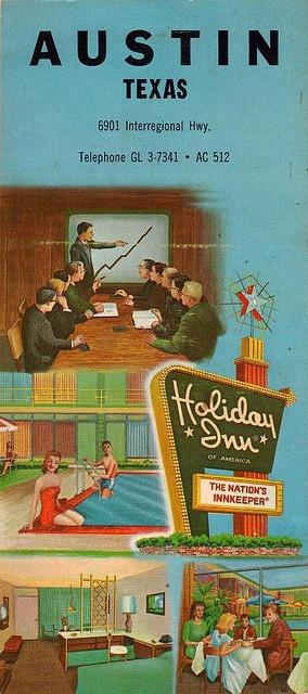 Austin, TX Holiday Inn Ad Card – front