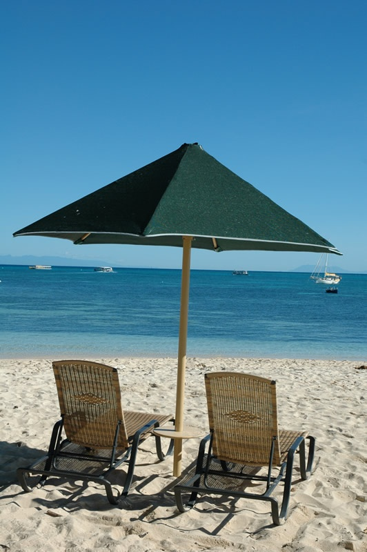 Set for a day on Green Island's beach, via Green Island Resort, Australia