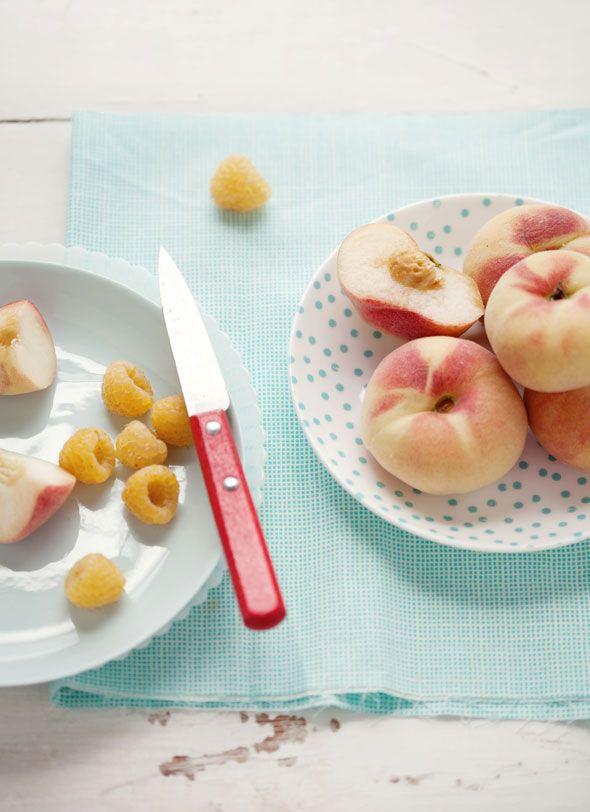 peaches raspberries | i like to eat/drink | Pinterest