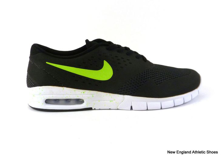 Nike men's Eric Koston 2 Max skateboarding shoes sneakers Black Flash Lime  #Nike #Skateboarding