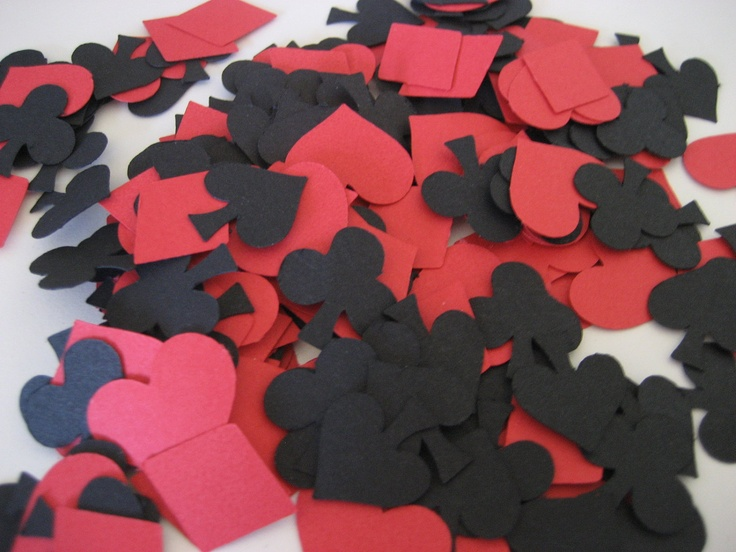 club, diamond, spade, heart confetti cutouts - poker party - 400. $5.00, via Etsy.