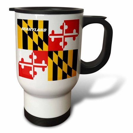 3dRose State Flag Of Maryland, Travel Mug, 14oz, Stainless Steel