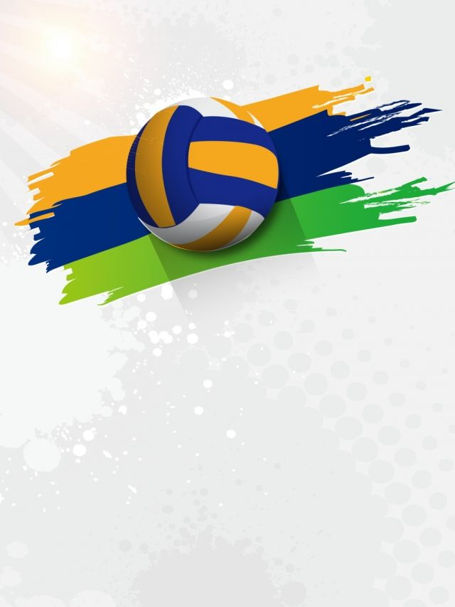 Campus Background Volleyball Club Recruit New Advertising Background Row Foot White Background In 2020 Club Poster Creative Poster Design Volleyball Clubs