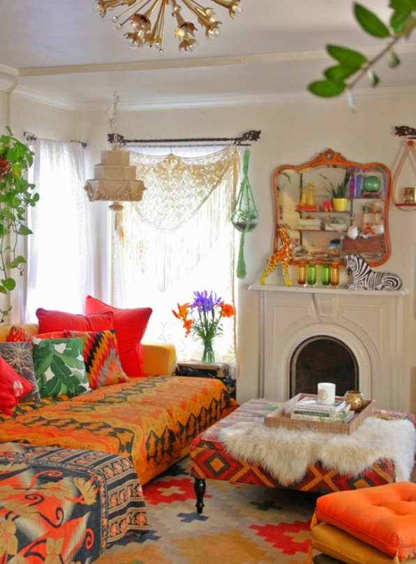 7 tips to light every room bohemian decor warm and i want - Boho chic living room decorating ideas ...