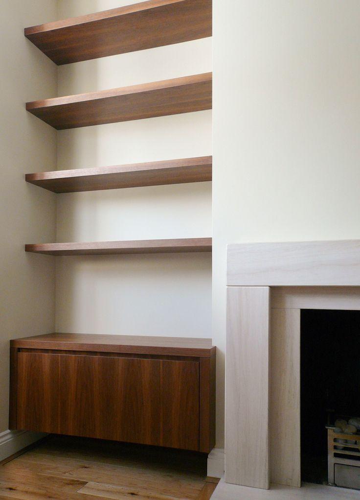 alcove unit dark wood pinteres. Black Bedroom Furniture Sets. Home Design Ideas