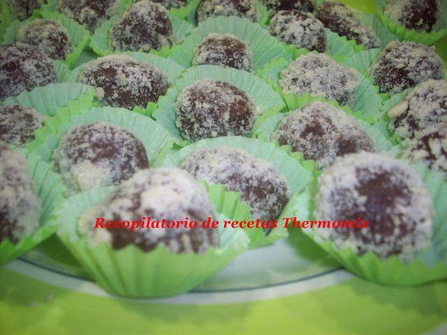 Recopilatorio de recetas : Trufas de chocolate, mascarpone y almendra con the...