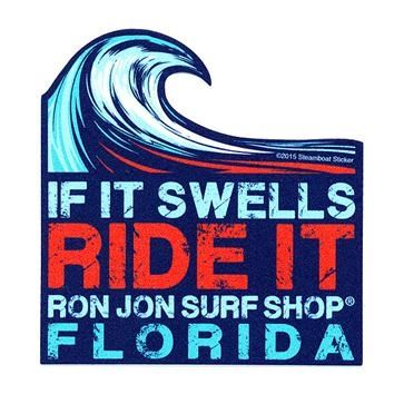 Ron jon swell ride sticker decals