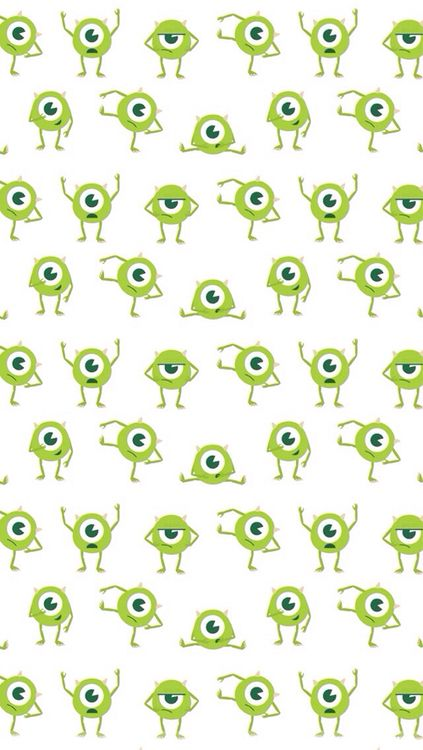 I totally want wall paper like this for a baby nursery! I love monsters inc.