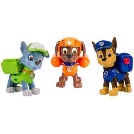 Emmitt  Nickelodeon Paw Patrol - Action Pack Pups 3pk Figure Set Chase, Rocky, Zuma - Walmart.com