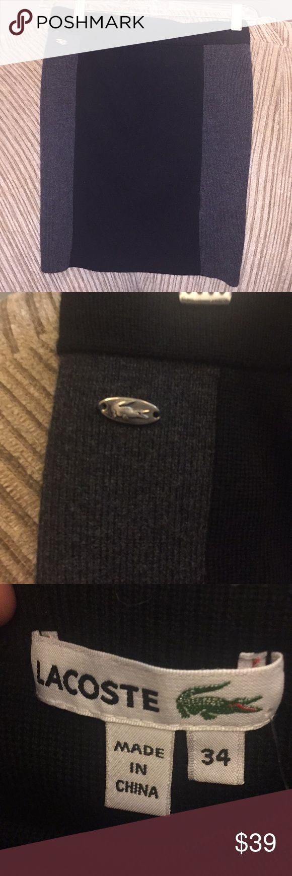 Black and Grey soft Lacoste mini skirt Wool black and Grey Lacoste mini skirt Lacoste Skirts Mini