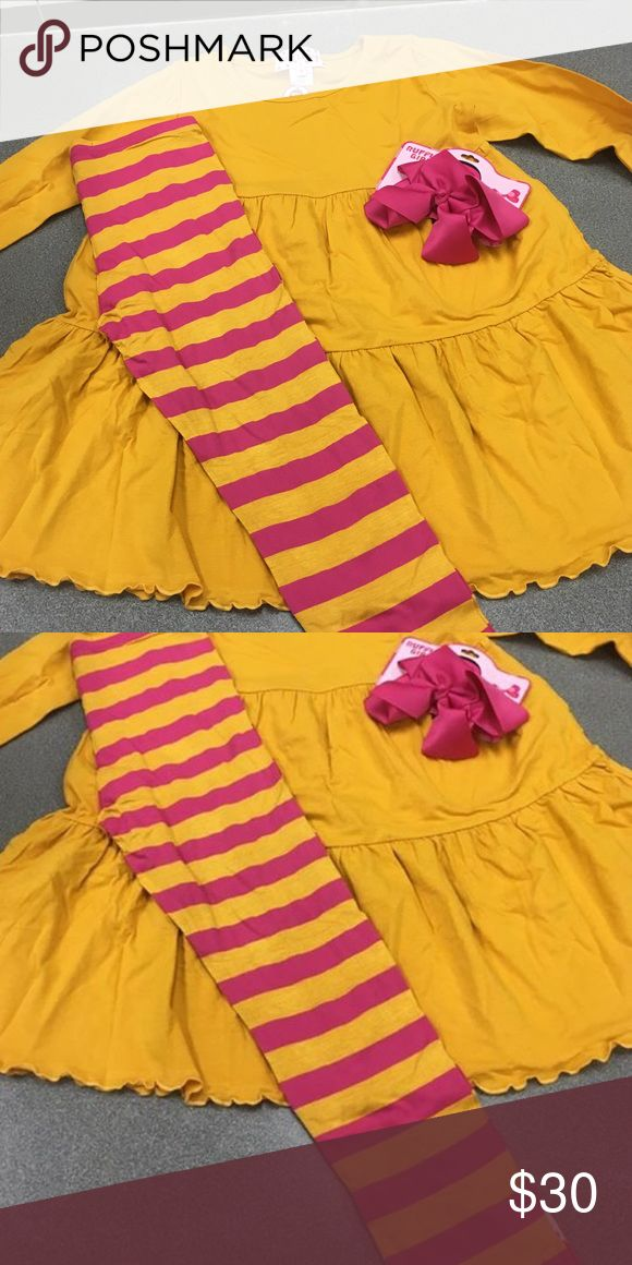 Ruffle Girl NWT size 10 outfit with matching bow Ruffle Girl NWT size 10 outfit with matching bow Ruffle Girl Other