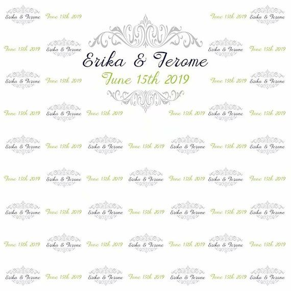 Custom Wedding Photography Backdrop Step And Repeat Photo