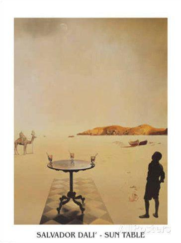 オールポスターズの サルバドール・ダリ「太陽の下のテーブル」ポスター
