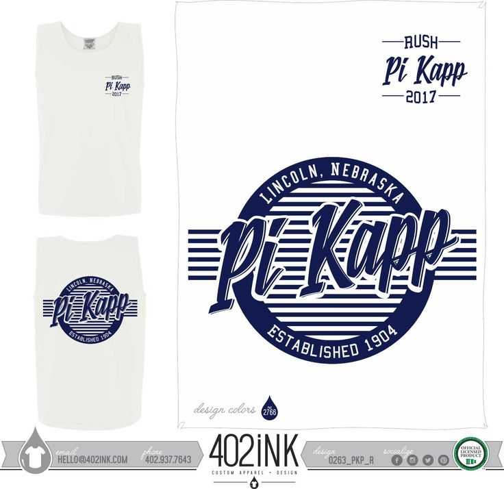 #402ink #402style 402ink, Custom Apparel, Greek T-shirts, Sorority T-shirts, Fraternity T-shirts, Greek Tanks, Custom Greek Apparel, Screen printed apparel, embroidered apparel, Fraternity, PIKAPP, Pi Kappa Phi, Rush