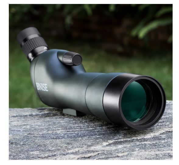 Angled Spotting Scope for Birdwatching Zoom Monocular Telescope Waterproof Case