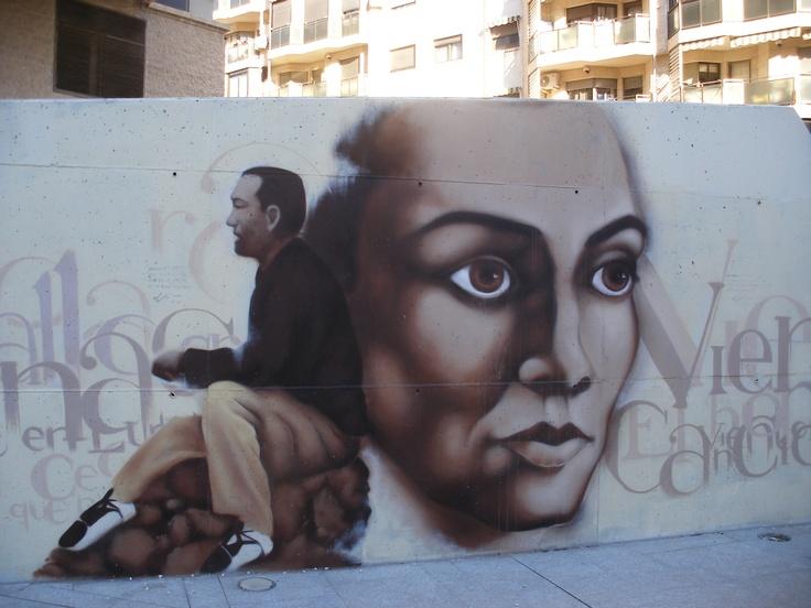 Pintura mural cerca del Río Segura.