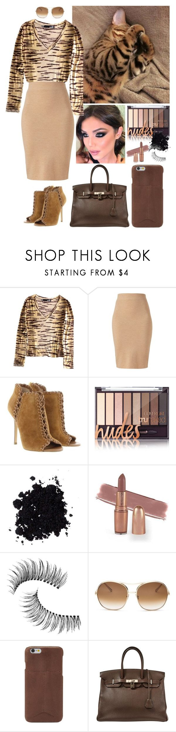 """""""Animal Inspired!"""" by annacastrolima ❤ liked on Polyvore featuring GET LOST, Winser London, Michael Kors, Trish McEvoy, Chloé, FOSSIL and Hermès"""