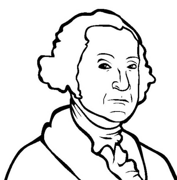 A Drawing Of George Washington Coloring Page : Kids Play Color